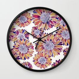 Sunflower Blooms – Vintage Palette Wall Clock