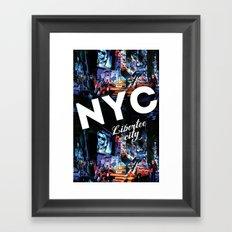 NEW-YORK (LIBERTEE CITY) Framed Art Print