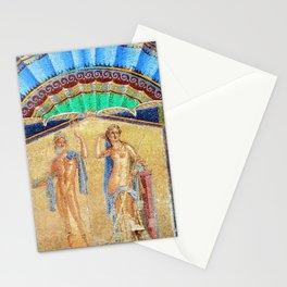 House of Neptune & Amphitrite Mosaic Tesserae Tile Depiction, Herculaneum, Italy Stationery Cards