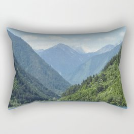 Mountains, Wild landscape Rectangular Pillow