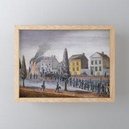 Fighting a Fire , William P. Chappel Framed Mini Art Print