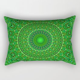 Spiritual Forest Garden Mandala Rectangular Pillow