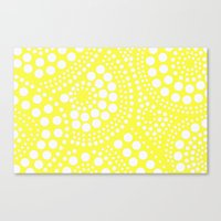 yellow pattern Canvas Prints featuring Pattern Yellow by Wildflowers and Grace