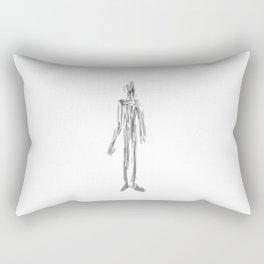 approaching figure Rectangular Pillow