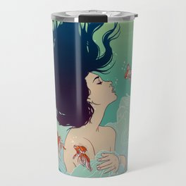Underwater Lady Travel Mug