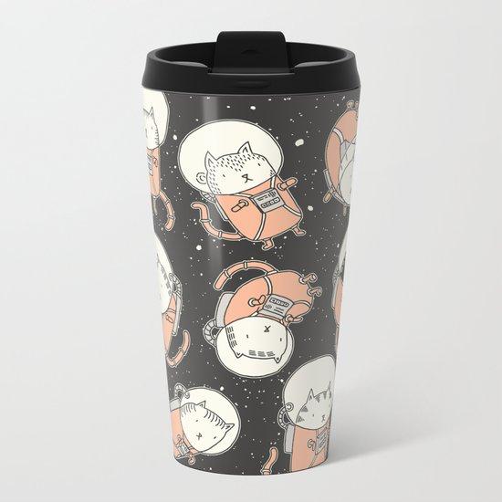 Cat-Stronauts Metal Travel Mug