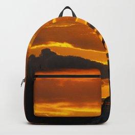 Blazing Sunset Over Maui, Hawaii Backpack