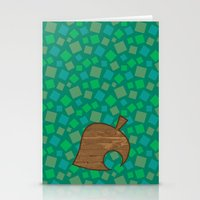 animal crossing Stationery Cards featuring Animal Crossing Summer Grass by Rebekhaart
