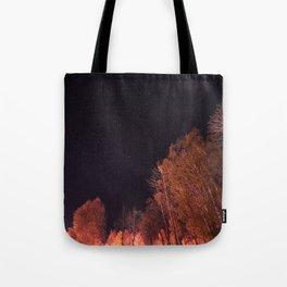 Firey woods Tote Bag
