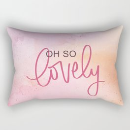 Oh So Lovely - Cloudy Watercolours Rectangular Pillow