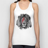 david bowie Tank Tops featuring David Bowie Lion by Urban Exclaim Co.