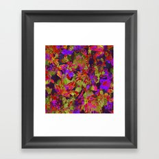 colorful floral with purple accent Framed Art Print