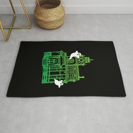 Haunted Victorian House Rug