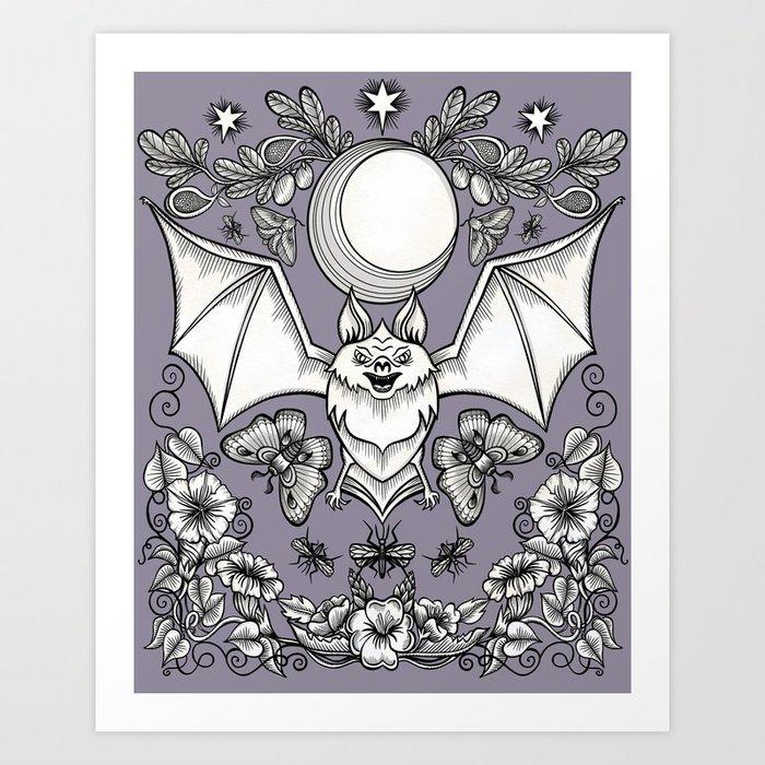 A Bat's Favorite Things Art Print