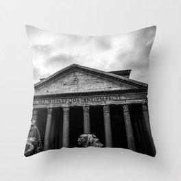 Clouds Over The Pantheon Throw Pillow