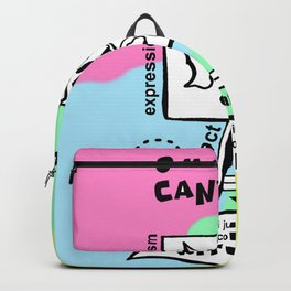 Smack the Canvas - Zine Page Backpack