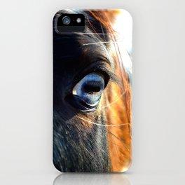 Horse Blue Watch Eye iPhone Case