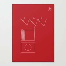 Voyager Golden Record Fig. 2 (Red) Canvas Print