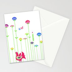 Cute retro hen  Stationery Cards