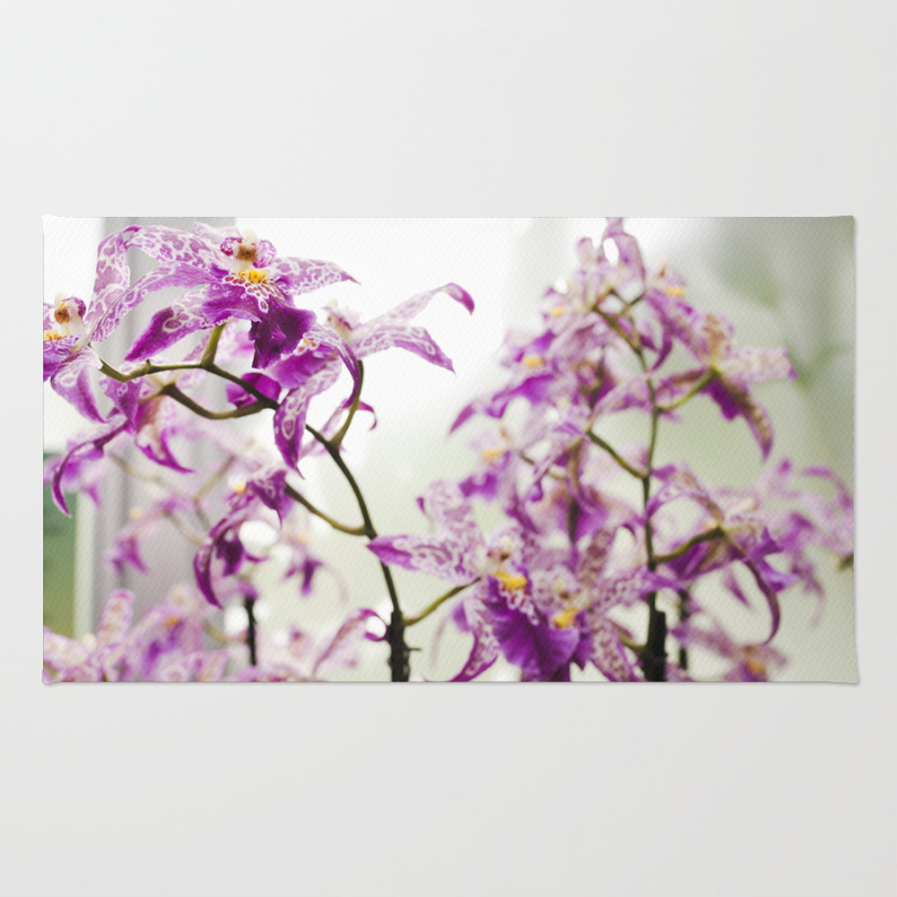 Orchids In Purple Rug by Christianalois RUG7922659