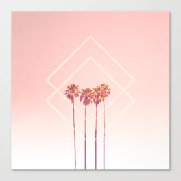Pink Palms Canvas Print