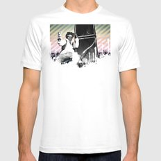 Are You Experienced? White SMALL Mens Fitted Tee