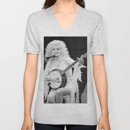 Dolly Parton music star pop music Silk poster Unisex V-Neck