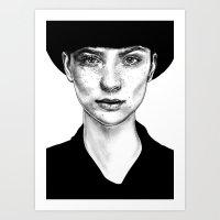 nico di angelo Art Prints featuring Nico by Agnès KR Patience