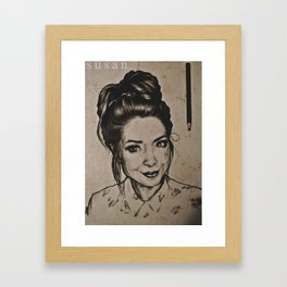 Zoella - traditional drawing Framed Art Print