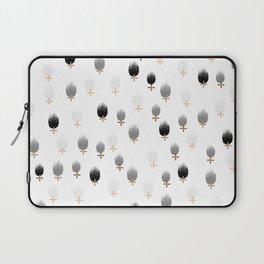 Monochrome Flower Pattern Laptop Sleeve