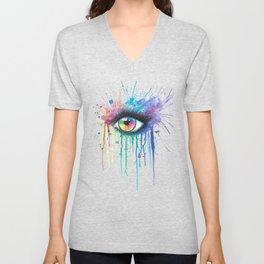 Rainbow Eye Colorsplash Unisex V-Neck
