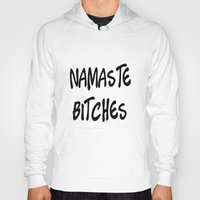 namaste Hoodies featuring Namaste by I Love Decor