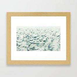 Frozen Shore Framed Art Print