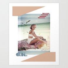 G.K. Collage Art Print