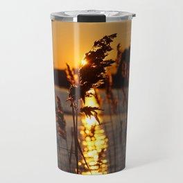 Sunlit Phragmites Travel Mug