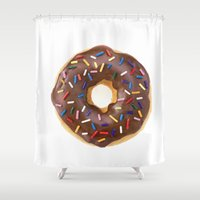 doughnut Shower Curtains featuring Doughnut by L.A.G.