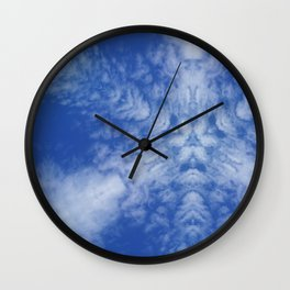 Pattern of clouds 01 Wall Clock