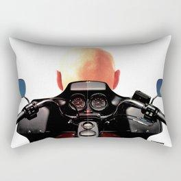 Bald Motocycle Rectangular Pillow