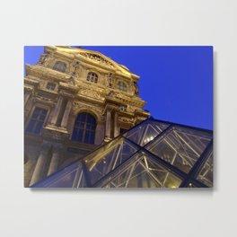 Musée du Louvre - modern and old, Paris Metal Print