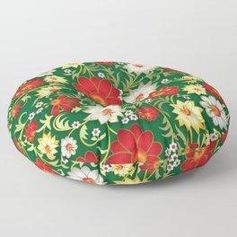 Art Flowers V11 Floor Pillow