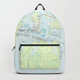 Cape Lookout National Seashore & Morehead City Map Backpack