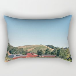 Route 46 in the Central Valley of Califonia Rectangular Pillow