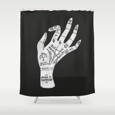 Palm Reading Shower Curtain