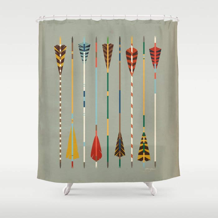 Vintage arrows shower curtain by jackiesullivan society6 Vintage shower curtains