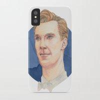 cumberbatch iPhone & iPod Cases featuring Cumberbatch by Megan Diño