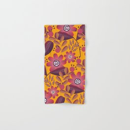 Floral spring fantasy in bright colors Hand & Bath Towel