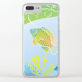 Sea Something Fishy Clear iPhone Case