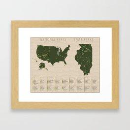 US National Parks - Illinois Framed Art Print