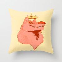 queen Throw Pillows featuring Queen by Natte