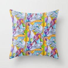 Cubist Cats - The Mininos Throw Pillow